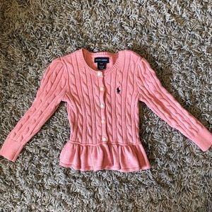USED! POLO Ralph Lauren Pink sweater 3T Girl